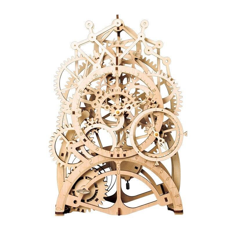 Vintage Home Decor DIY houten slinger klok Gear Drive door Clockwork - Huisdecoratie