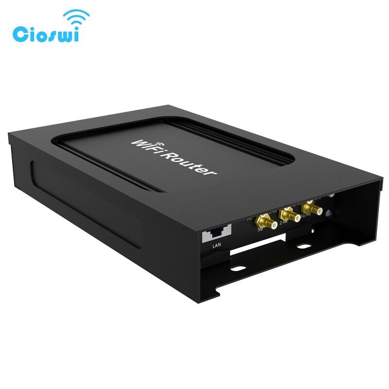 4g lte voiture wifi routeur modem sans fil avec fente pour carte sim AC1200 support GPS 5 ghz hotspot mobile extérieur pour bus poe 24 v