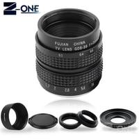 FUJIAN 35mm F1.7 CCTV TV Movie lens+C Mount +Macro ring +Metal lens hood for Canon EOS M M2 M3 M5 M6 M10 M100 Mirrorless Camera