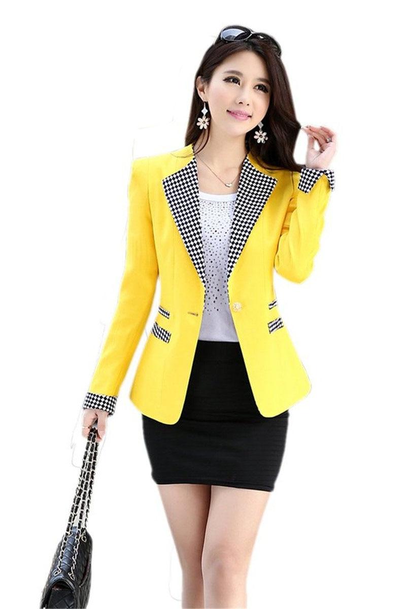 Compra amarillo a cuadros chaqueta online al por mayor de