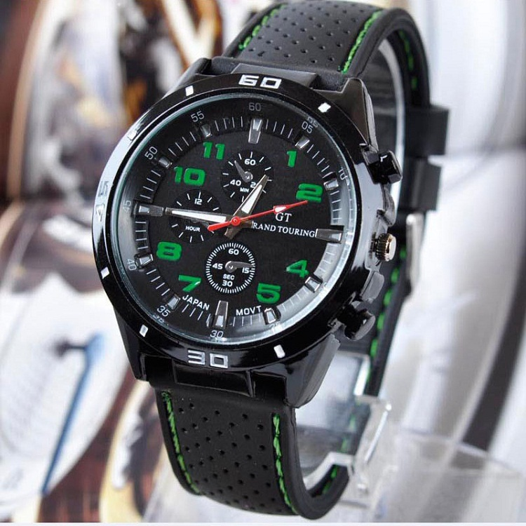 2018 new products recommended silica gel men's character leisure fashion movement quartz GT Watch new fashion silica gel electronic digital touch screen led watch