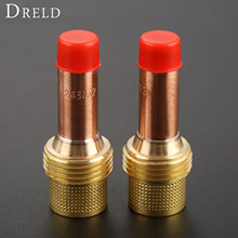 DRELD 2pcs TIG Collets Body Gas Lens 45V26 2.4mm & 3/32 Fit for Welding Torch Consumables SR PTA DB WP 17 18 26 Series 2PK