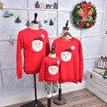 Семья посмотрите соответствующие Отец мать дочь сын outifits одежда зима оптовая семья одежда рождественский свитер
