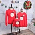 Outifits juego mirada familia Padre madre hija hijo ropa de invierno al por mayor de ropa de la familia de navidad suéter