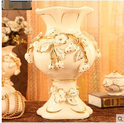 Luxurious European vase ceramic adornment to decorate the of large floor flower antique TV ark living room