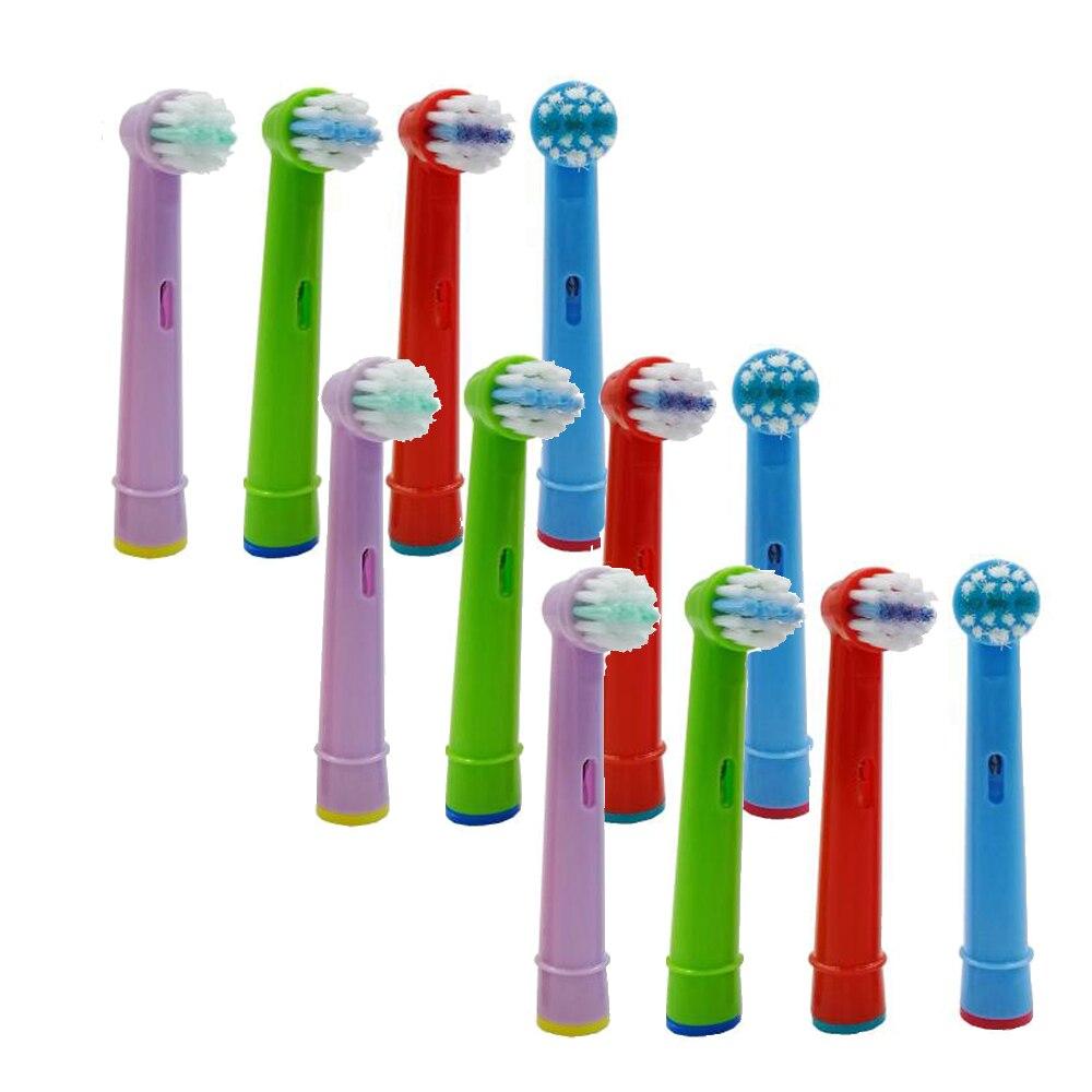 12pcs Replacement Children kids Brush Heads for Oral B D19 OC18 D811 D9525 D9511 D25 D30 Princess /Car /Mickey Tooth Brush Heads