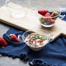 Bowl Fruit Dessert-Bowls Tableware Handles Restaurant-Bar-Supplies Home-Decor Glass