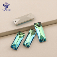 YANRUO 3255 All Sizes Peridot High Quality Flatback Sew On Crystal Cosmic Baguette Strass Rhinestone For Jewelry Making