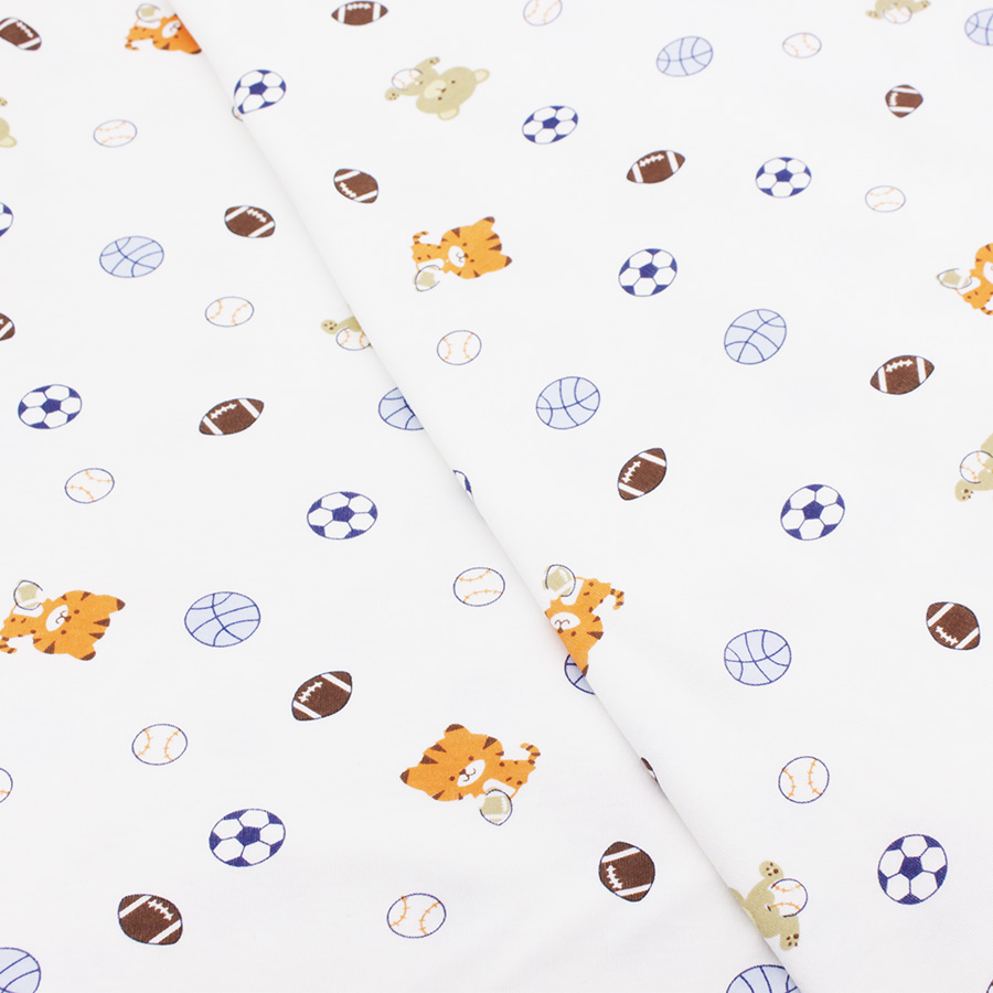 ᗑ】Impreso algodón bebé Telas punto elástico Telas para Costura ...