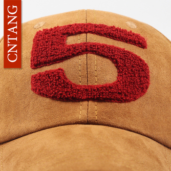 CNTANG Men Women Suede Baseball Cap Snapback Street Hip Hop Hat Winter Autumn Fashion Vintage