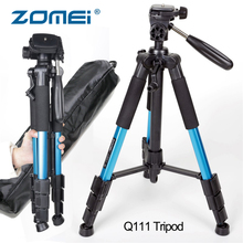 ZOMEI Q111 Compact Tripod Pan Head Professional Portable Travel Camera Stand Aluminum for Canon Nikon DSLR Camera Accessories