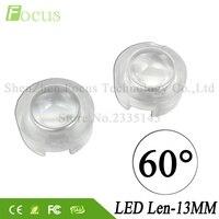 13MM LED Lenses Mini PMMA 1W 3W 5W High Power LED Lens 60 Degree For 1