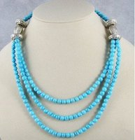 Charming Tibet Asian stone beads Necklace Halskette natural stone Women's silver jewelry mujer moda