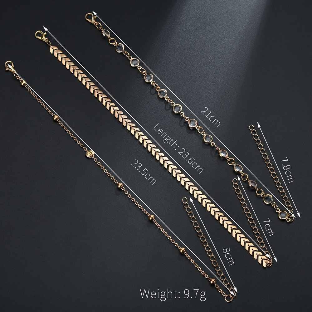 人気のダブルチェーンアンクレット銅スパンコールレトロ国家風の宝石