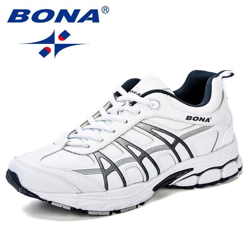 BONA Nuovi Classici Uomini di Stile Runningg Scarpe In Microfibra Uomini Scarpe Da Ginnastica Scarpe Da Jogging All'aperto Resistente Suola Scarpe Da Ginnastica Leggere