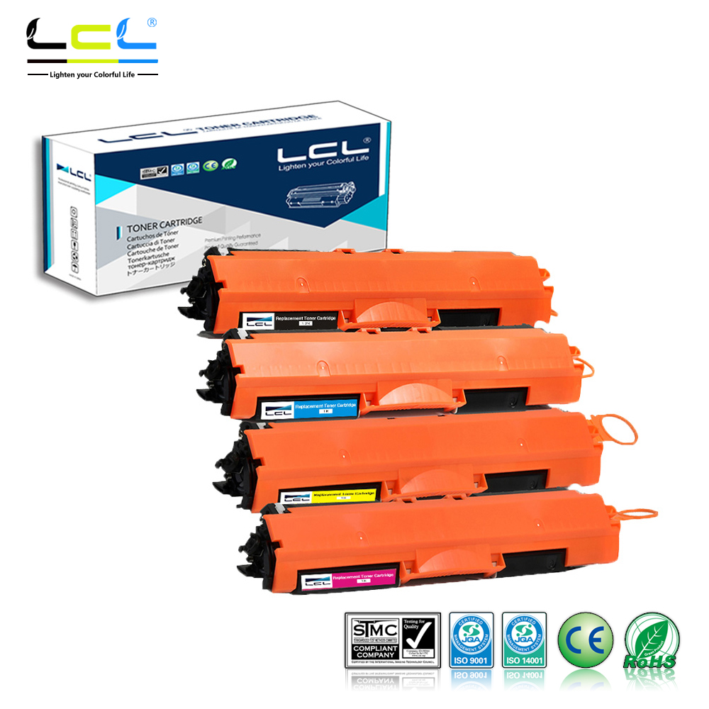 LCL 126A CE310A CE311A CE312A CE313A (4-Pack KCMY) Toner Cartridge Compatible for HP Laserjet Pro CP1021 CP1022 CP1023 CP1025 lcl 78a ce278a ce278 278a ce 278 a 78 4 pack black toner cartridge compatible for hp laserjet p1566 p1567 p1568 p1569 p1606