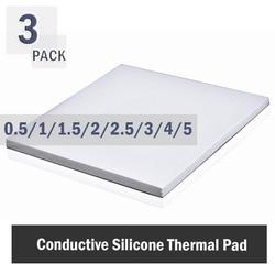 3szt 100x100mm podkładka termiczna 0.5mm 1mm 1.5mm 2mm 3mm 4mm 5mm CPU radiator Pad chłodzenie przewodząca podkładka silikonowa podkładka termiczna biały w Wentylatory i akcesoria do chłodzenia od Komputer i biuro na