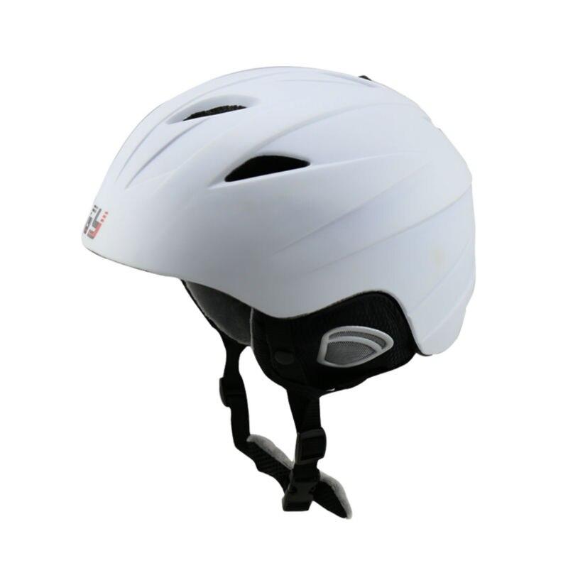 GY ski helmet for skiing snowboard helmet with velvet material lining white black