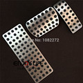 3pcs/set Gas Fuel Brake Footrest Foot Pedal Pads Cover For Mercedes X164 X166 Benz GL350 GL450 GL550 AT No drilling !