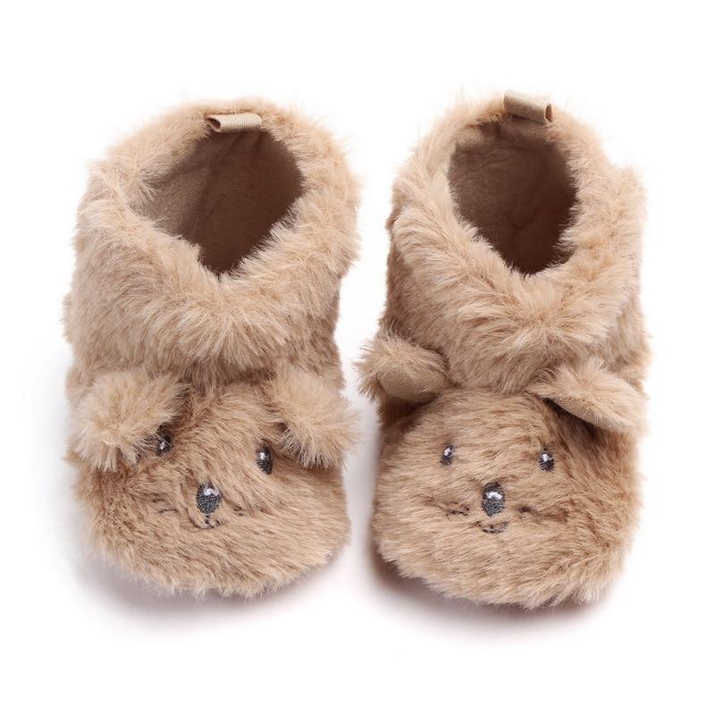 2018 Nette Baby Stiefel Winter Warme Neugeborene Mädchen Jungen Schuhe Cartoon Print Infant Stiefel Haarigen Baby Schuhe 0-12 Mt