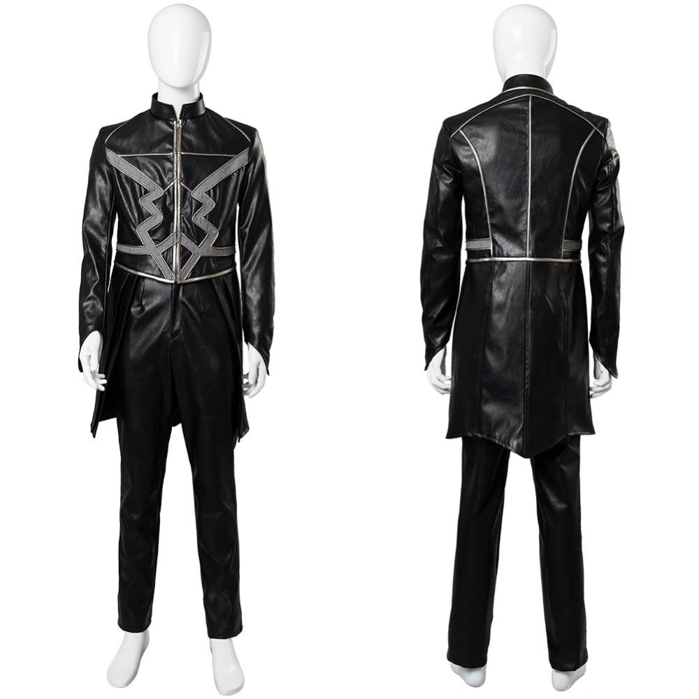 Inhumans Black Bolt Cosplay Costume Outfit Adult Men Full Sets Black Bolt Blackagar Boltagon Cosplay Costume Halloween Costume