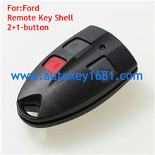 3Button Brand Replacement Shell Remote Key Keyless Entry Case With Rubber Button Pad Fob For Ford