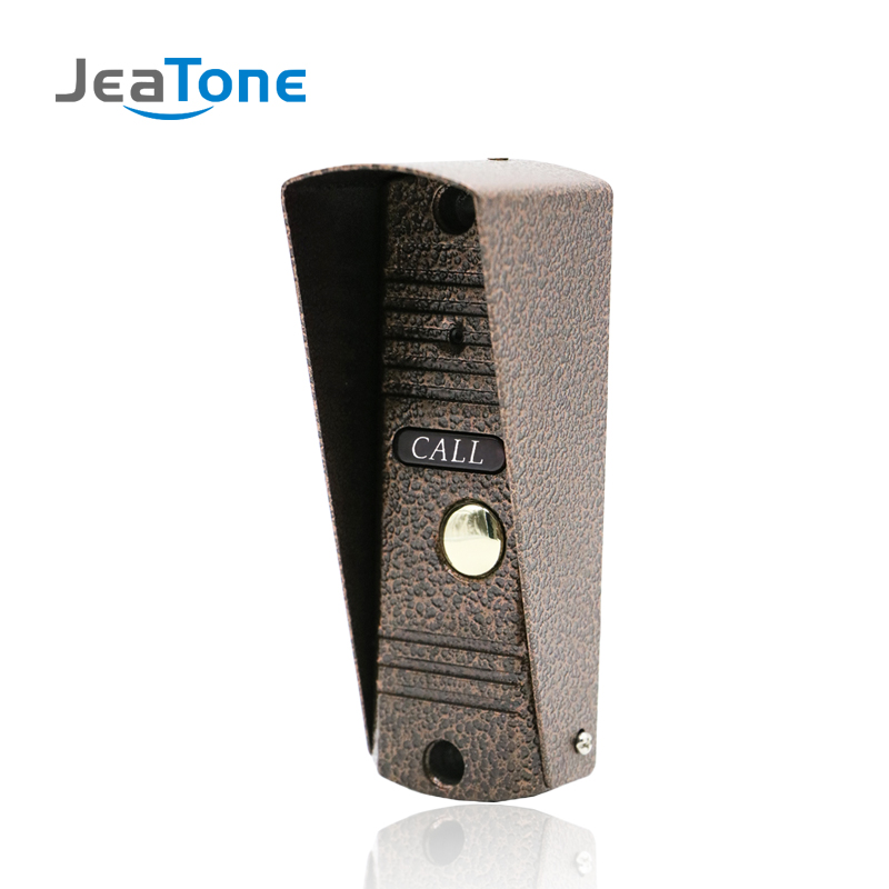 JeaTone Porte Téléphone Interphone de Sécurité À Domicile Vidéo Interphone Appartement sonnette vidéo IR Vision Nocturne En Plein Air Panneau D'appel