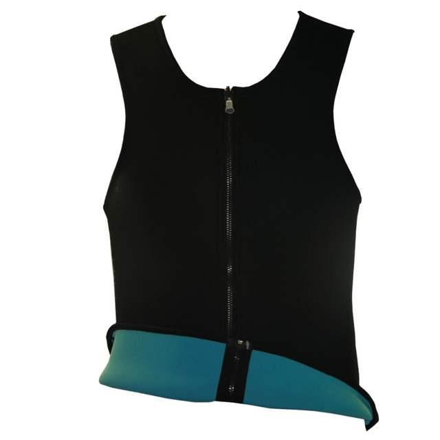 633c7838f6a placeholder Men Waist Training Corsets Neoprene Body Shaper Zip Up Ultra  Sweat Double Face Fitness Sport Bodysuit