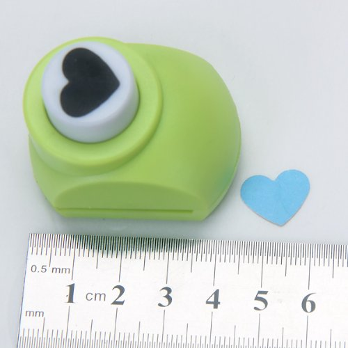 Kid Child Mini Printing Paper Hand Shaper Scrapbook Tags Cards Craft DIY Punch Cutter Tool (heart)