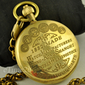 Vintage 1882's Watch Manufacturers Style Copper Case Pocket Watch with Chain Mechanical Hand Winding Top Quality Best Gifts