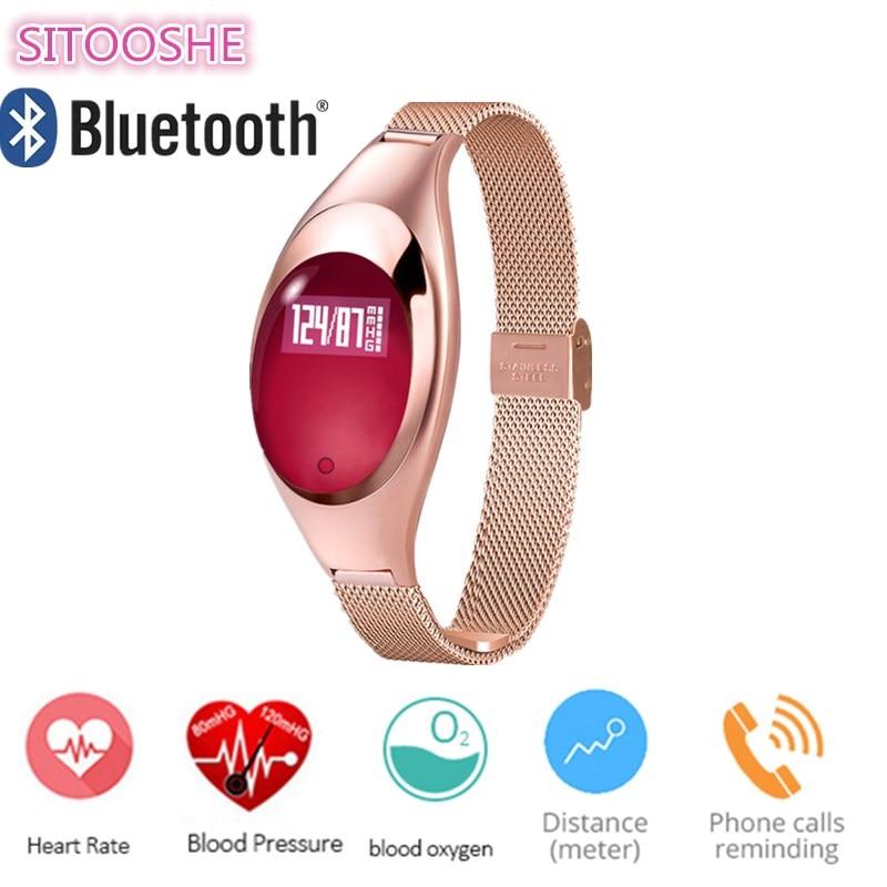 Femme Homme Montre Smart Watch Z18 Bluetooth Bracelet Sang Pression D'oxygène Moniteur de Fréquence Cardiaque Podomètre Pour Iphone iOS Xiaomi Android