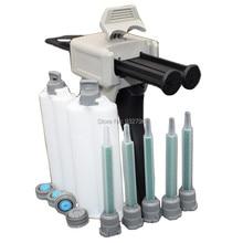 5pc 1:1 AB Glue Epoxy Mixing Nozzle Tip + 2pcs 50ml Dual Cartridge + 1:1 50ml Manual Cartridge Applicator Gun Epoxy Adhesive Gun