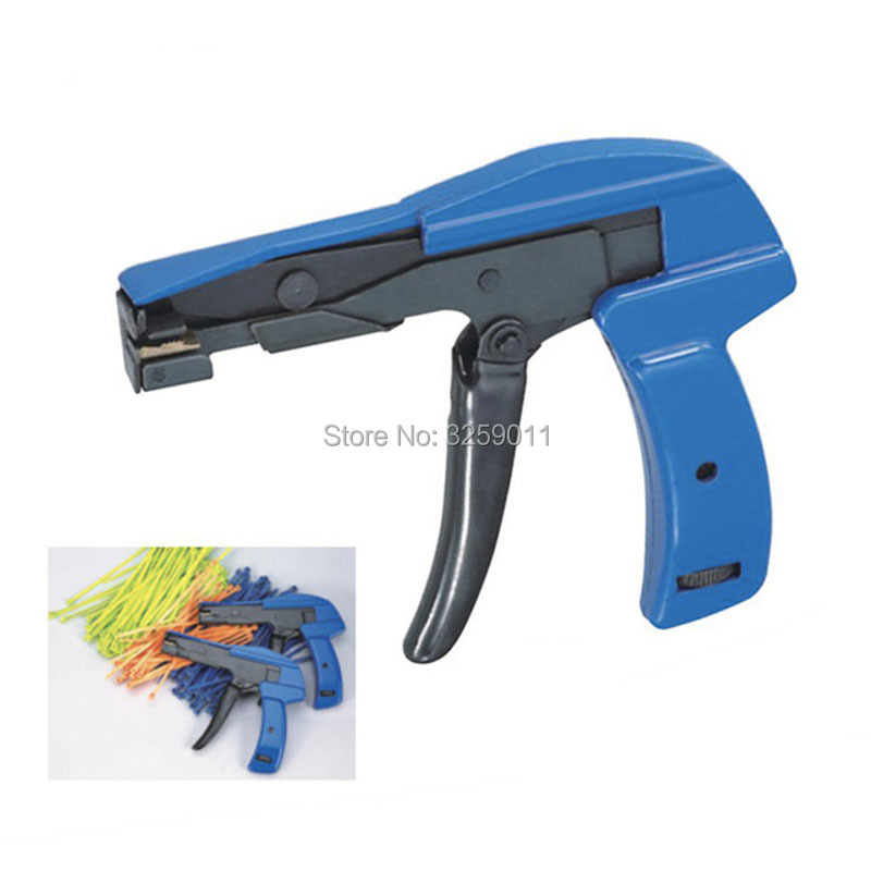 Cable Tie Tensioning Gun Cutting Fastener Tool for 2.2-4.8mm Nylon Plastic Zip