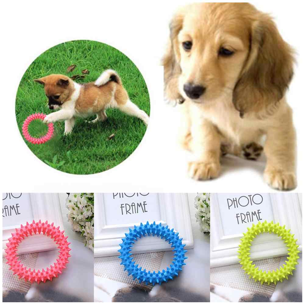 Pet rubber thorn ring circle toy training dog molar dog pet bite soft rubber toy