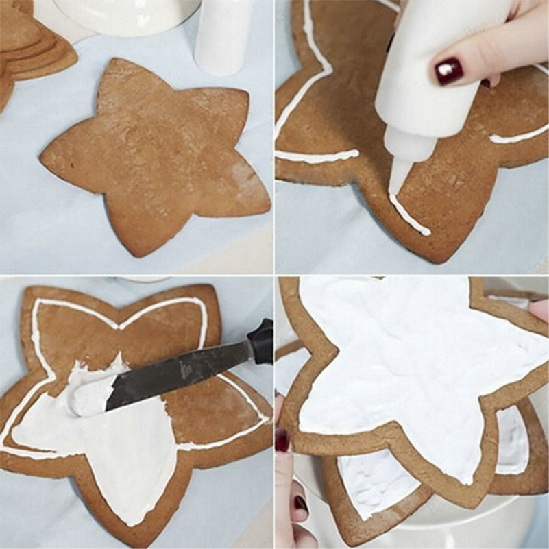 Us 1 5 11 Off Newcomdigi 6pcs Lot 3d Christmas Cookie Cutter Five Pointed Star Baking Fondant Cookie Cake Mold In Cookie Tools From Home Garden On