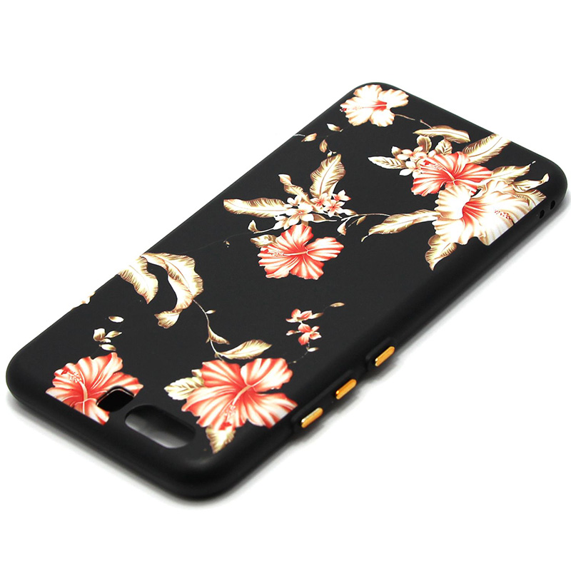 3D Relief flower silicone  case huawei p10 (38)