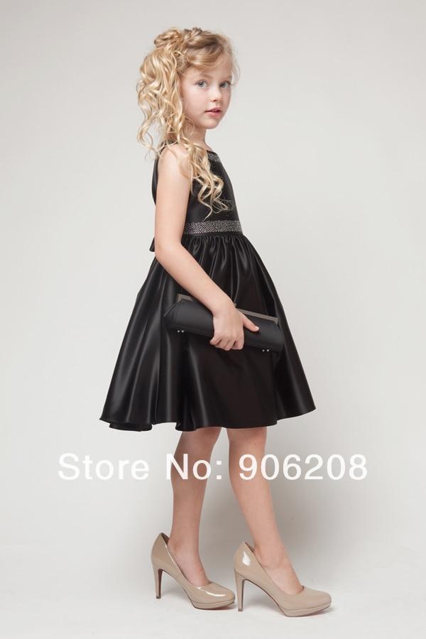 2015 Free Shipping Halter Beaded Sequins Custom Made   Flower     Girl     Dress   / Child   Dress  /   Girls  ' Gown