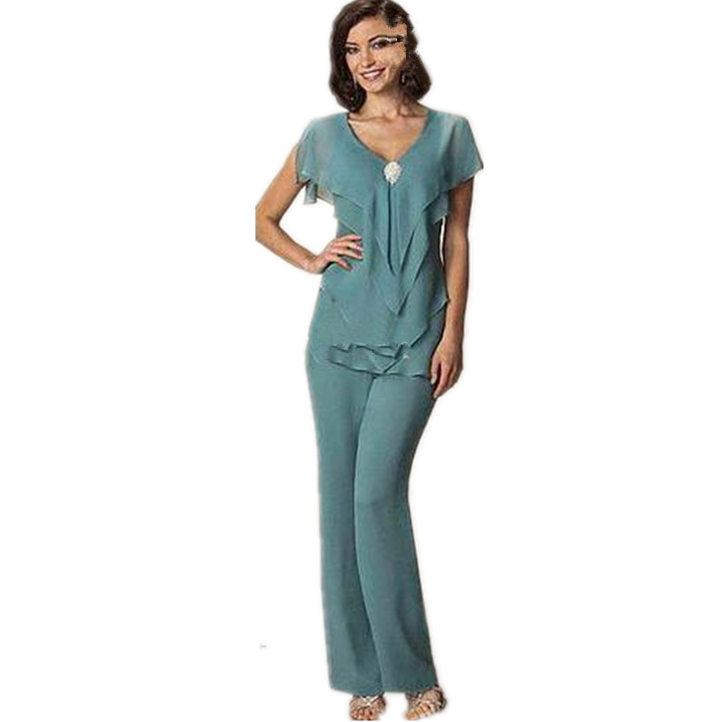New Mother S Suit Sexy Elegant Chiffon Plus Size 2pc