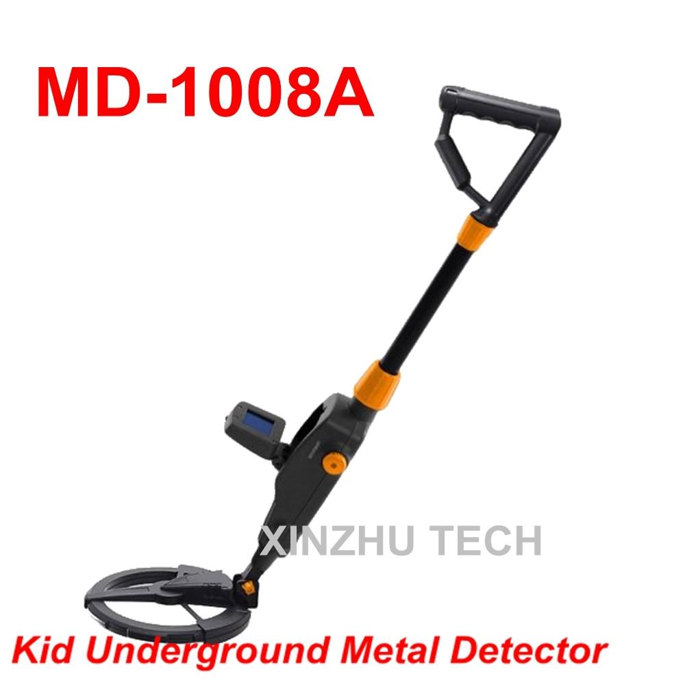 цена на MD-1008 High Quality MD-1008A Kid Metal Detector Beach Searching Machine MD-1008B Treasure Hunter Underground Gold Detector