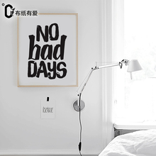 No bad days Nordic Black and white wall art quote prints  Minimalist Bedroom decoration No Frame