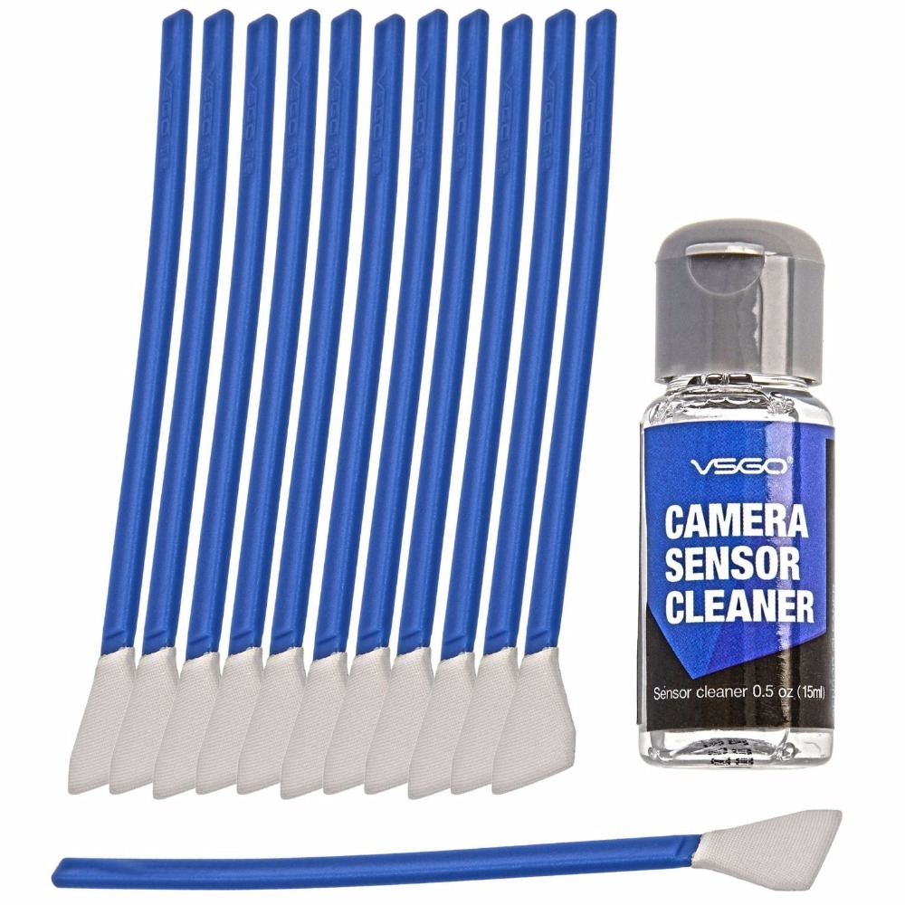 M 4/3 camera sensor cleaning swab kit 12 swabs & cleaning fluid for Olympus Panasonic ILDC cameras
