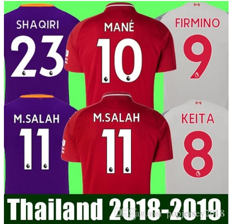 Top quality 2019 SALAH soccer jersey Home away football shirt mohamed salah jersey liverpool 18 19 FIRMINO HENDERSON MANE unifor(China)