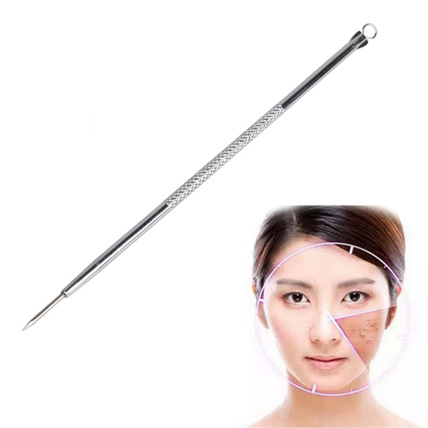 Hot  Blackhead Extractor Acne Remover Face Tool Stainless Steel Pimple Needle Wyt77