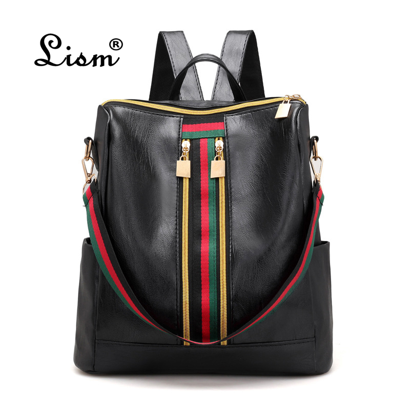 2018 Soft PU Leather Backpack Women Vintage College Girls Student School Bags Mochila Casual Travel Female Rucksack Backpack 2018 new korean kpop women pu backpack teenage girls fashion exo bags casual travel student bags mochila
