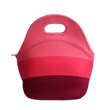 Lancheira thermo isoliert neopren lunchpaket für frauen kinder lunchbags tote mit reißverschluss kühler lunchbox isolationsbeutel