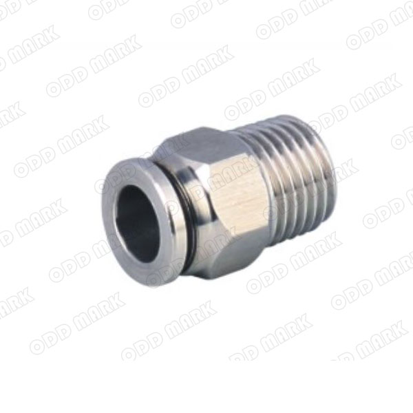 "Free shipping 10pcs/lot 12mm to 1/2"" PC12-04,304 Stainless Steel Straight Male Connector"