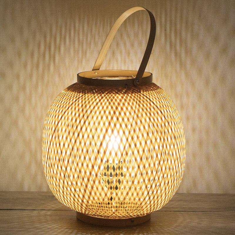 Onafhankelijk Chinese Tafellamp Bamboe Kunst Bamboe Tuin Restaurant Restaurant Slaapkamer Japanse Lantaarn Tatami Lampen Wf4161448