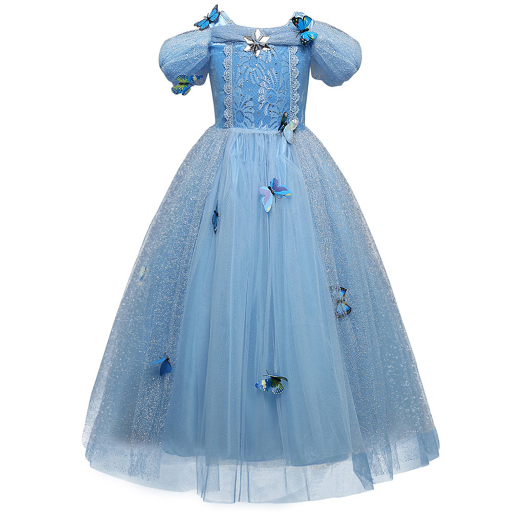 HTB1fkg2XeH2gK0jSZJnq6yT1FXaF Girls Dress Christmas Anna Elsa Cosplay Costume Dresses Girl Princess Elsa Dress for Birthday Party Children Kids Clothing