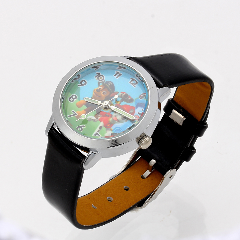 купить 2018 Cartoon Watches Kid Girls Leather Straps Wristwatch Children Quartz Wrist Watch Cute Clock Montre Enfant онлайн