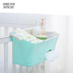 Caja de almacenamiento para colgar la cama del pañal del bebé organizador de la cuna del juguete del recién nacido bolsa de almacenamiento de la botella de alimentación para el juego de cama de la cuna